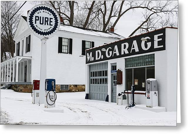 Md Garage 2 Greeting Card by Luminant Lens Photography