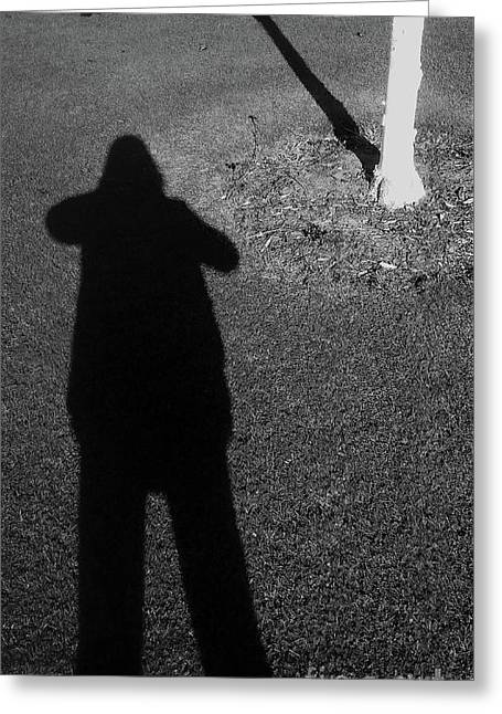 Me And My Shadow Greeting Card