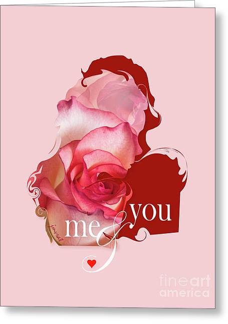 Yes Valentine  Me And You Greeting Card