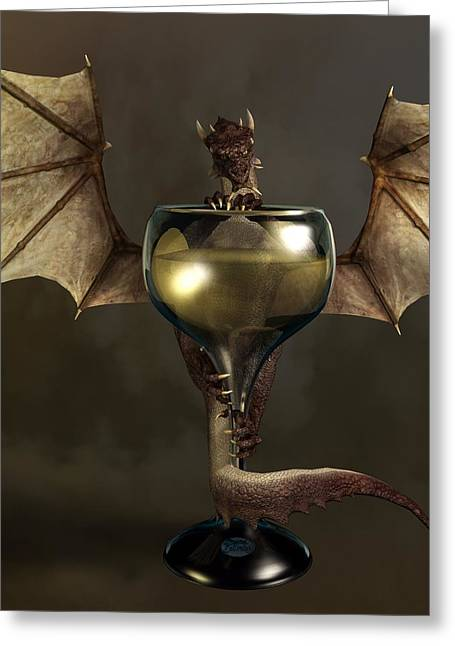 Rack Greeting Cards - Mead Dragon Greeting Card by Daniel Eskridge