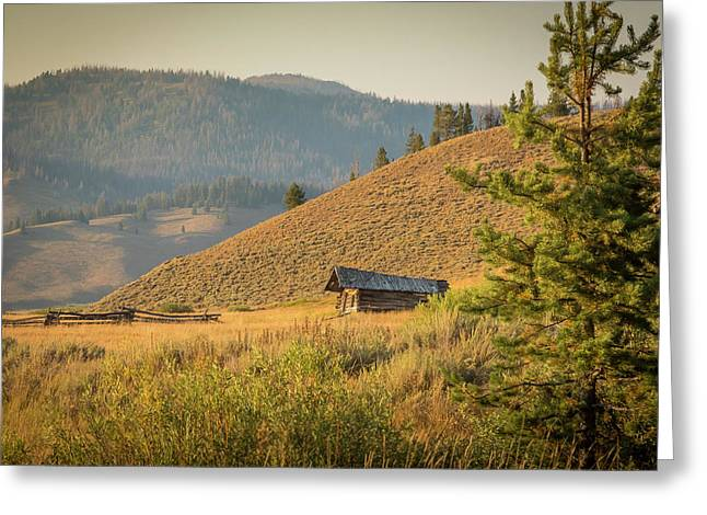 Greeting Card featuring the photograph Meadow Cabin by Mark Mille