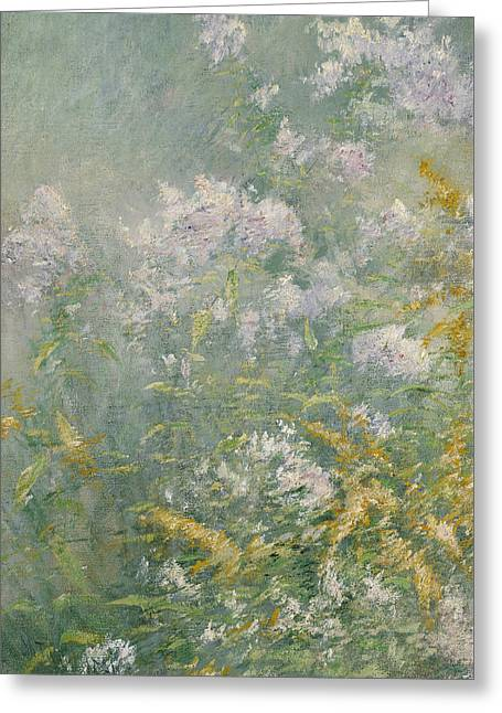 Meadow Flowers Greeting Card by John Henry Twachtman