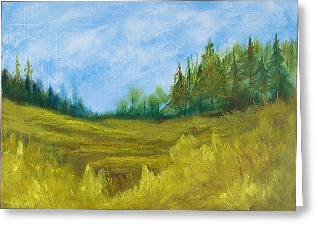 Meadow Greeting Card by Eugene Coderre