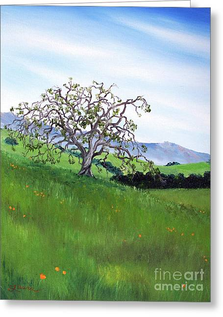 Meadow In Early March Greeting Card