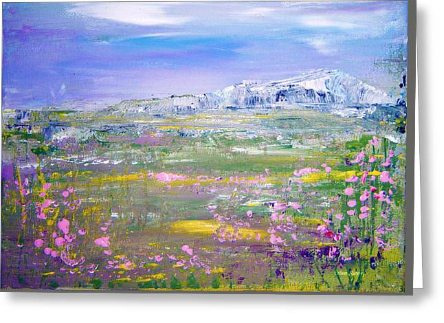 Meadow Sky By Colleen Ranney Greeting Card