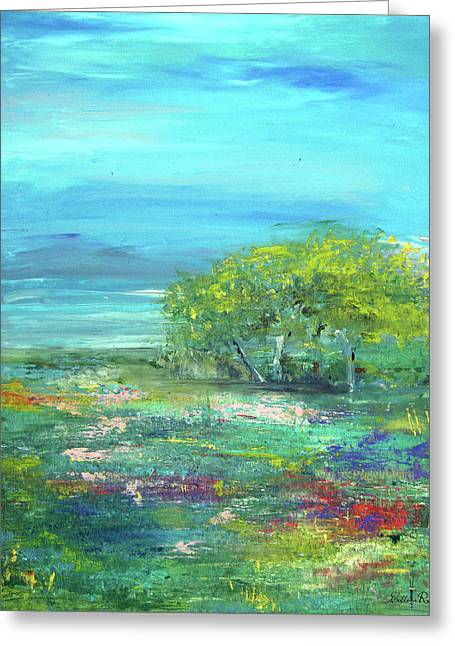 Meadow Trees Greeting Card