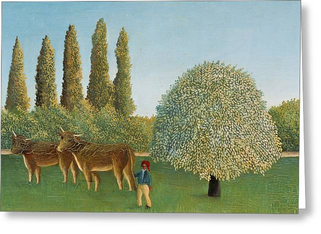 Meadowland Greeting Card by Henri Rousseau