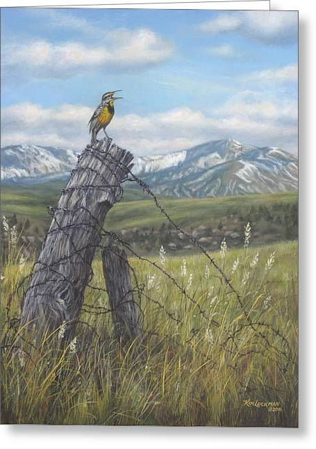 Meadowlark Serenade Greeting Card