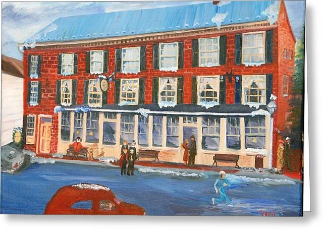 Mealeys Tavern Greeting Card by Gloria Condon