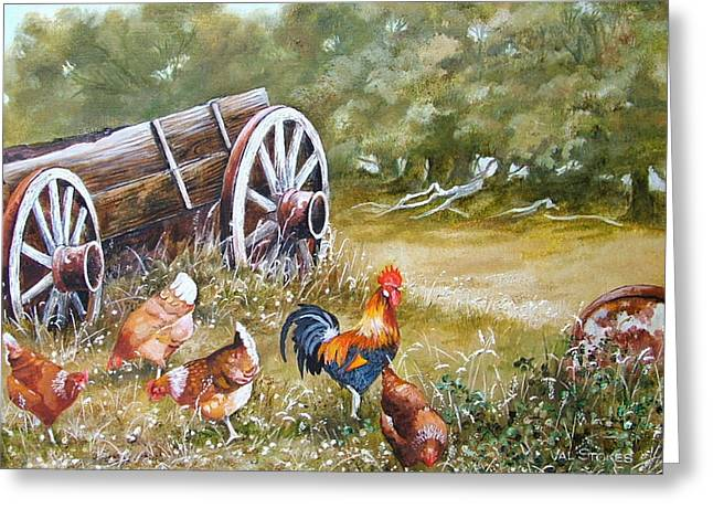 Meals And Wheels Greeting Card by Val Stokes