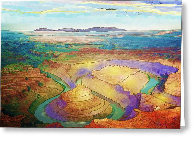 Meander Canyon Greeting Card