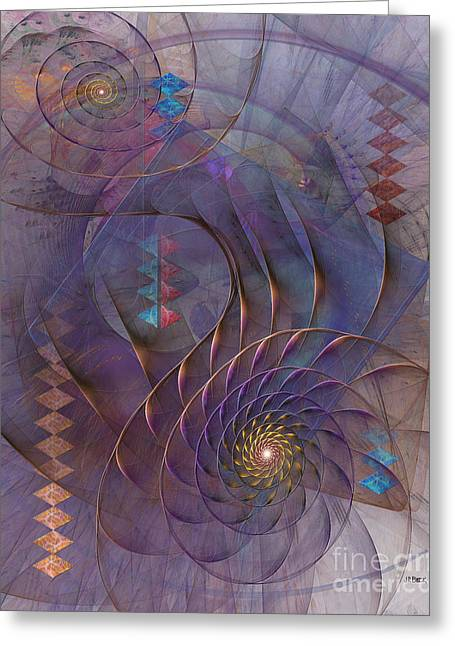 Meandering Acquiescence Greeting Card by John Robert Beck