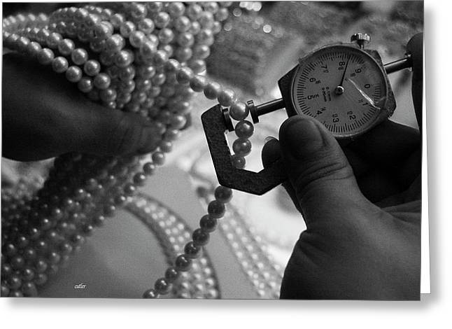 Measuring Pearls Greeting Card