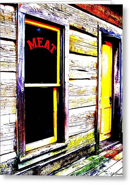 Meat Market Greeting Card