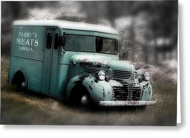Meat Truck Greeting Card by Gray  Artus