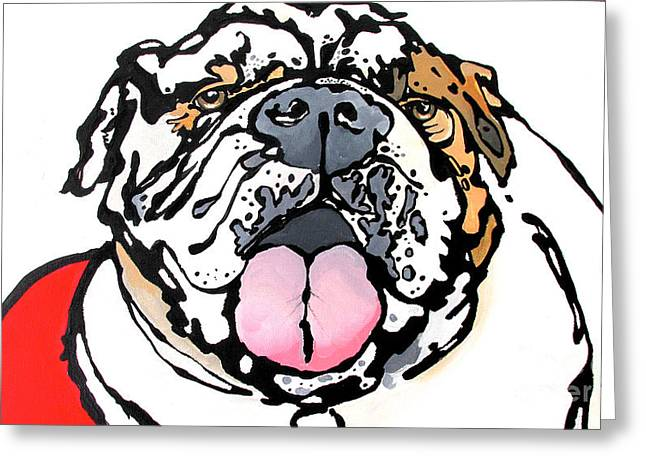 Meatball The Bull Dog Greeting Card