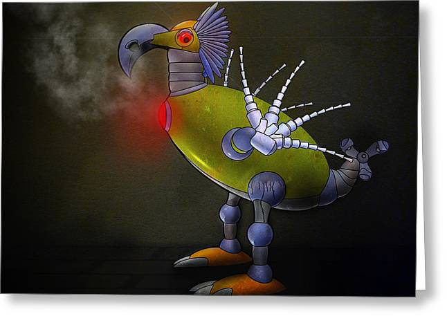 Mechanical Bird Greeting Card
