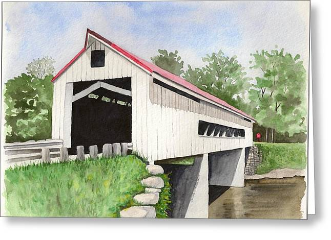 Mechanicsville Rd Bridge Greeting Card