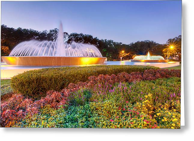 Mecom Fountain Greeting Card