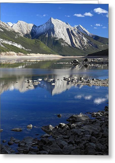 Medecine Lake Jasper National Park Alberta Canada Greeting Card by Pierre Leclerc Photography