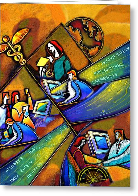 Medicare And Information Technology Greeting Card by Leon Zernitsky