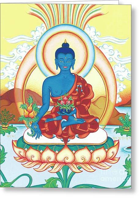 Medicine Buddha Greeting Card by Carmen Mensink