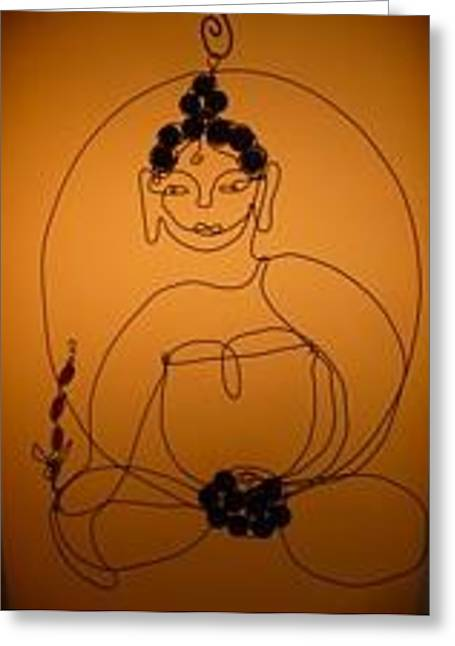 Medicine Buddha Greeting Card by Live Wire Spirit