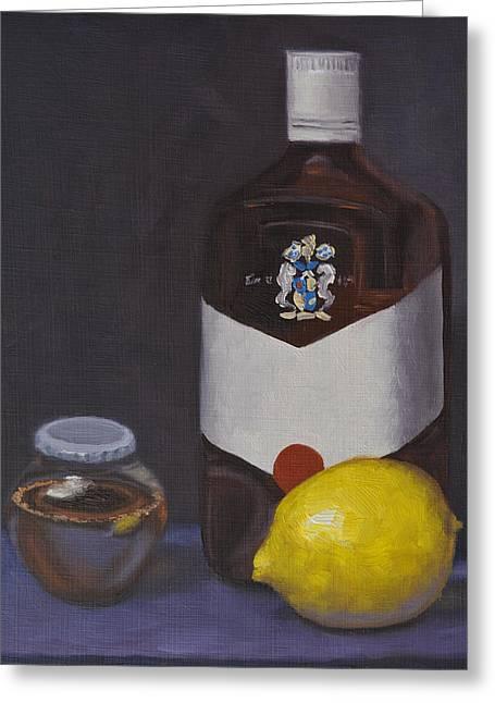 Medicine For My Lemon Man Greeting Card by Leana De Villiers
