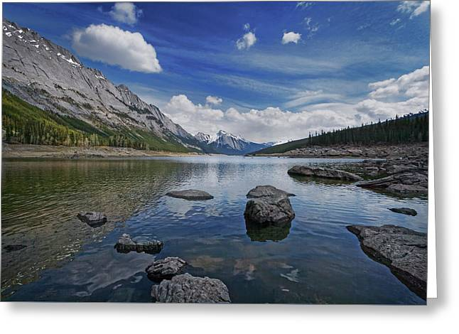 Medicine Lake, Jasper Greeting Card