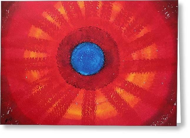 Medicine Wheel Original Painting Greeting Card