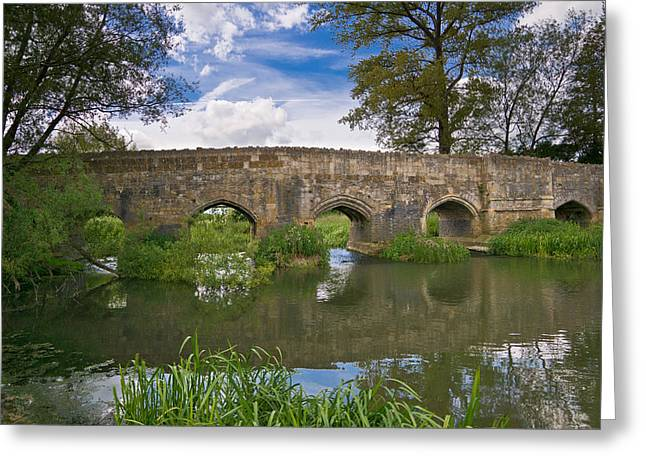 Medieval Bridge Greeting Card