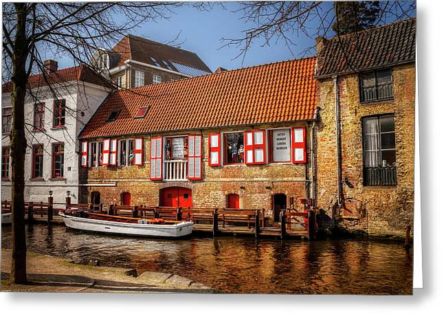 Medieval Bruges  Greeting Card