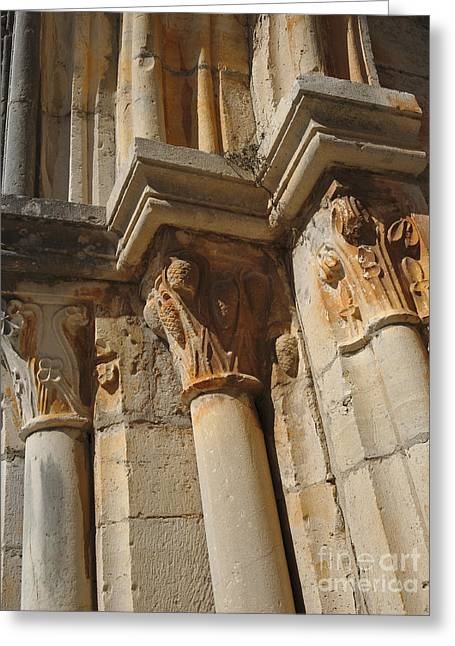 Medieval Church Arch Detail 2 Greeting Card by Angelo DeVal