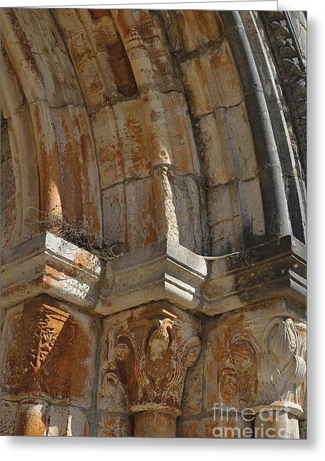Medieval Church Arch Detail Greeting Card by Angelo DeVal