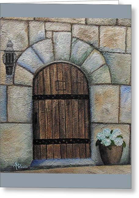 Medieval Door Greeting Card