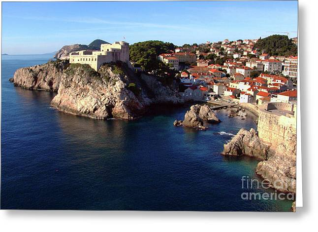 Medieval Fortresses Lovrijenac And Bokar Dubrovnik Greeting Card