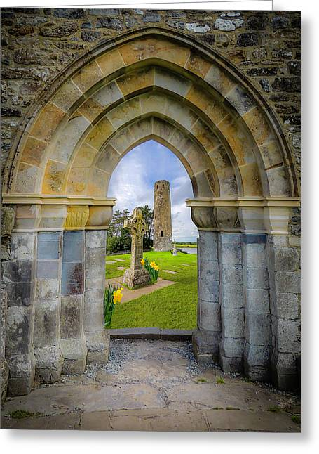 Greeting Card featuring the photograph Medieval Irish Countryside by James Truett