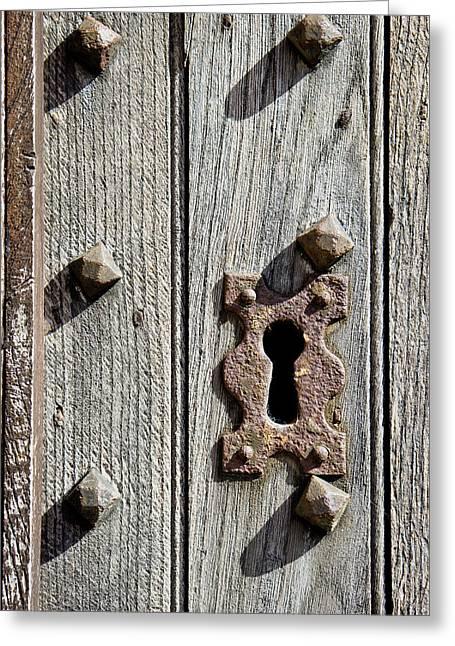 Medieval Keyhole Greeting Card by Tom Gowanlock
