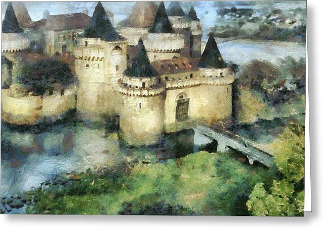 Medieval Knight's Castle Greeting Card by Sergey Lukashin