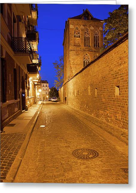 Medieval Old Town Of Torun By Night Greeting Card by Artur Bogacki