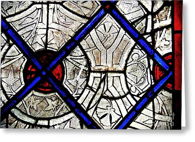 Medieval Stained Glass Abstract 2 Greeting Card