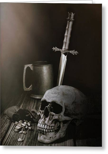 Medieval Still Life Greeting Card by Tom Mc Nemar