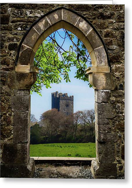 Greeting Card featuring the photograph Medieval Vista Of Dysert O'dea Castle by James Truett