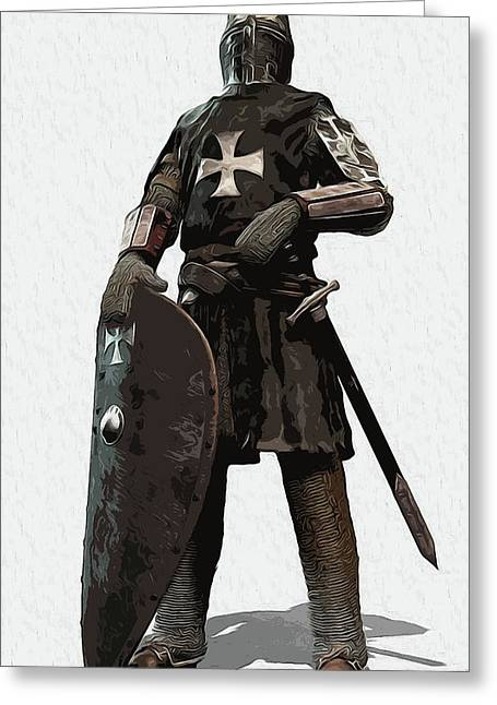 Medieval Warrior - 06 Greeting Card