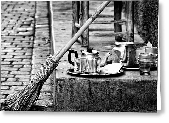 Greeting Card featuring the photograph Medina Tea Break by Marion McCristall