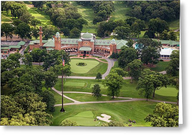 Greeting Card featuring the photograph Medinah Country Club by Adam Romanowicz
