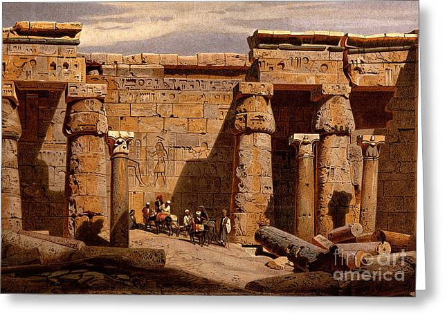 Medinet Habu Temple, Egypt, 1878 Greeting Card by Wellcome Images