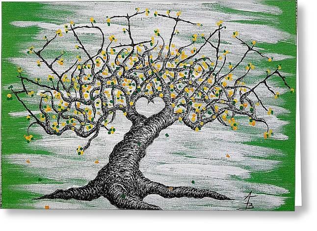 Meditate Love Tree Greeting Card