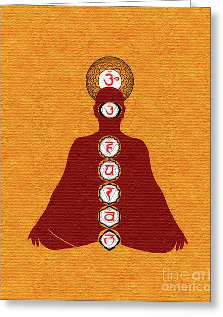 Meditate On Chakras Greeting Card