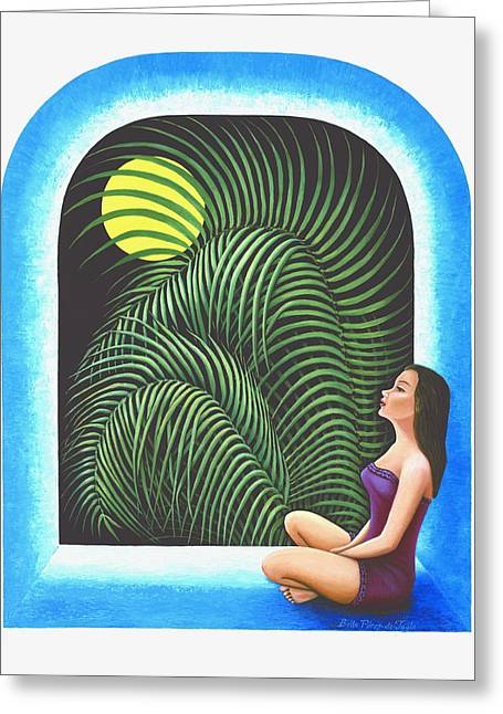 Meditation Greeting Card by Belle Perez-de-Tagle